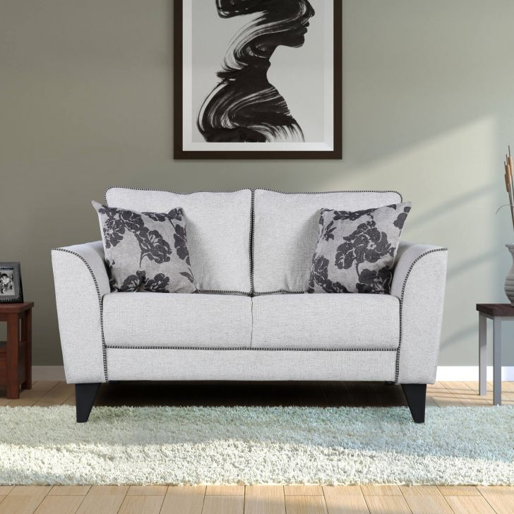 Chester Fabric 2 Seater Sofa in Beige Colour