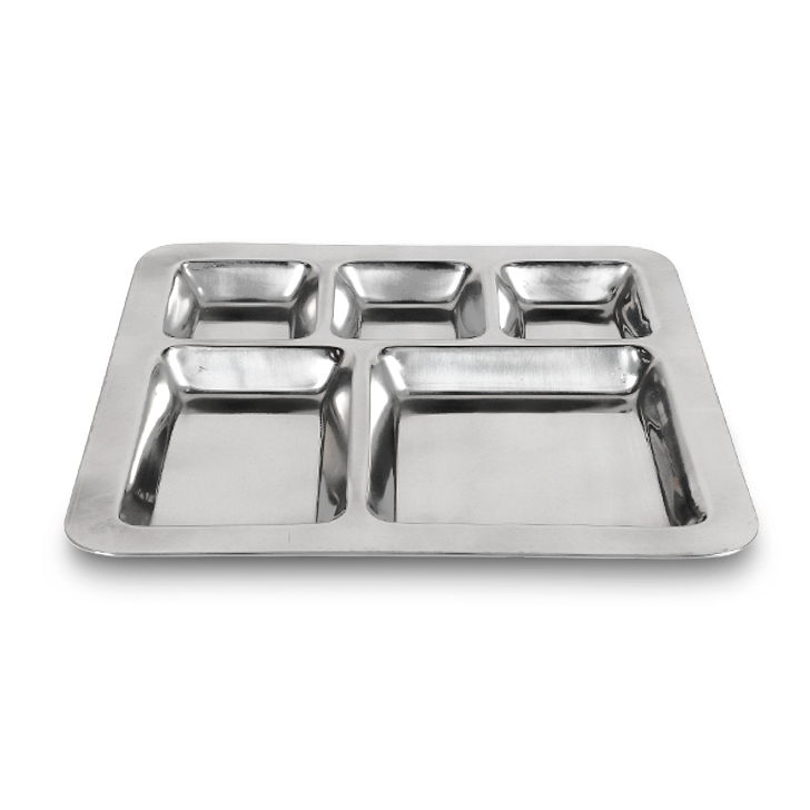 Army Stainless Plate Section Plate Stainless steel in Silver Colour by Living Essence