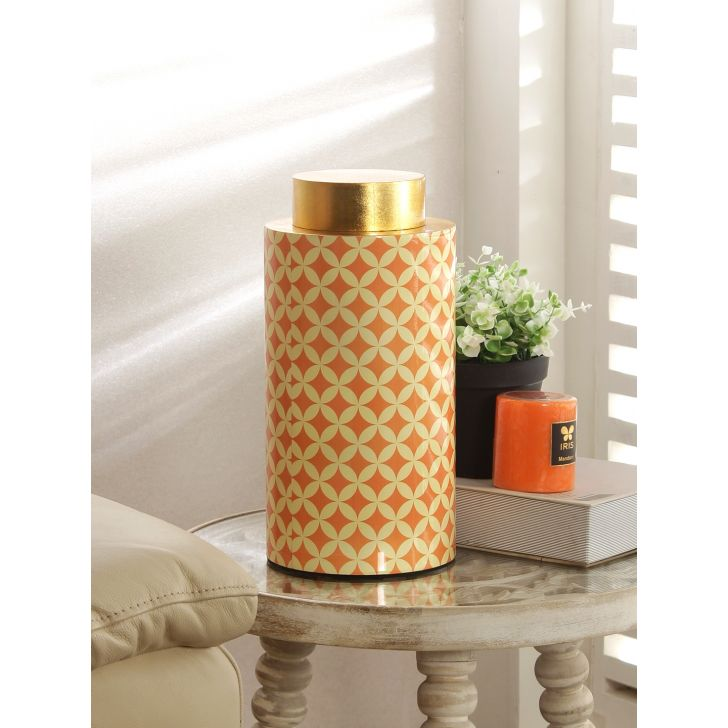 Groot Bamboo Accent in Orange Colour by Living Essence