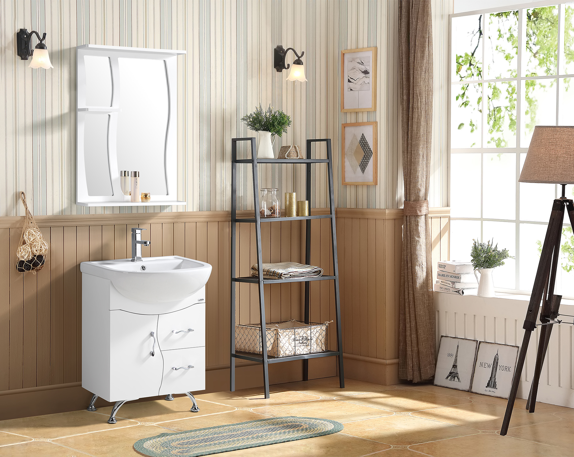 Verone Bath Vanity in White Colour by HomeTown