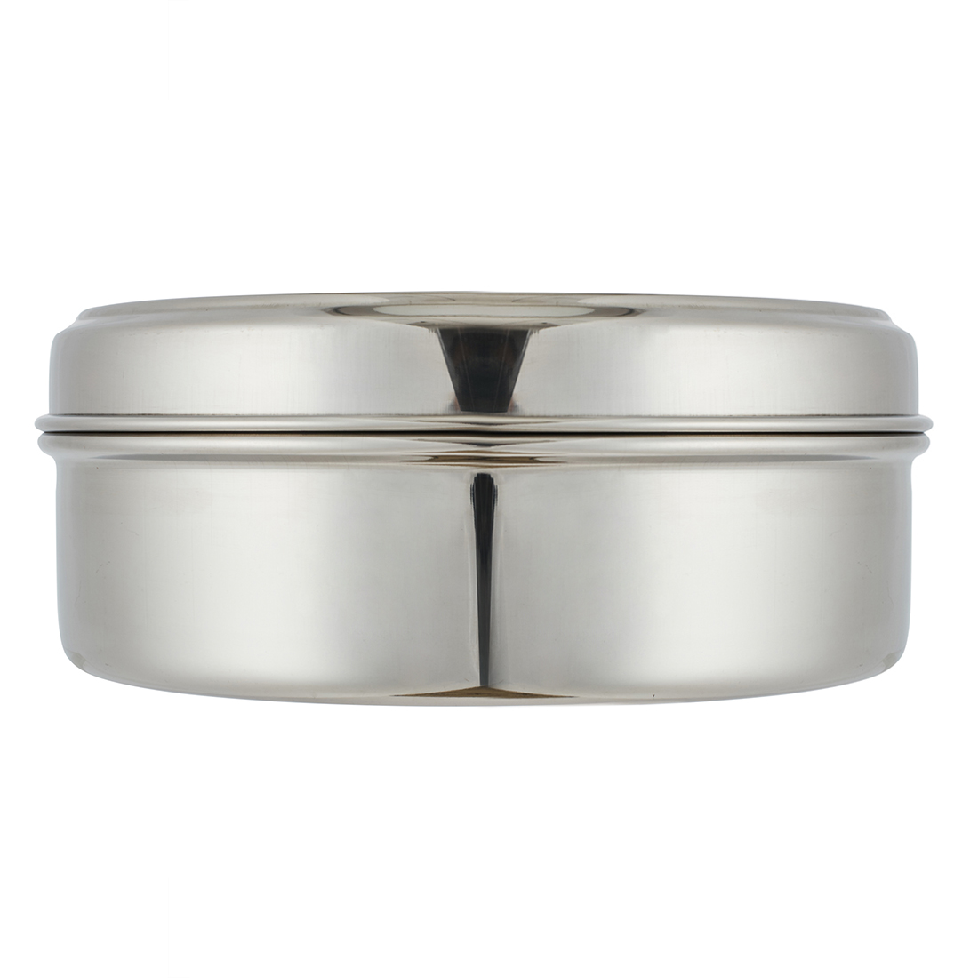 Puri Dabba Stainless steel Containers in Silver Colour by Living Essence