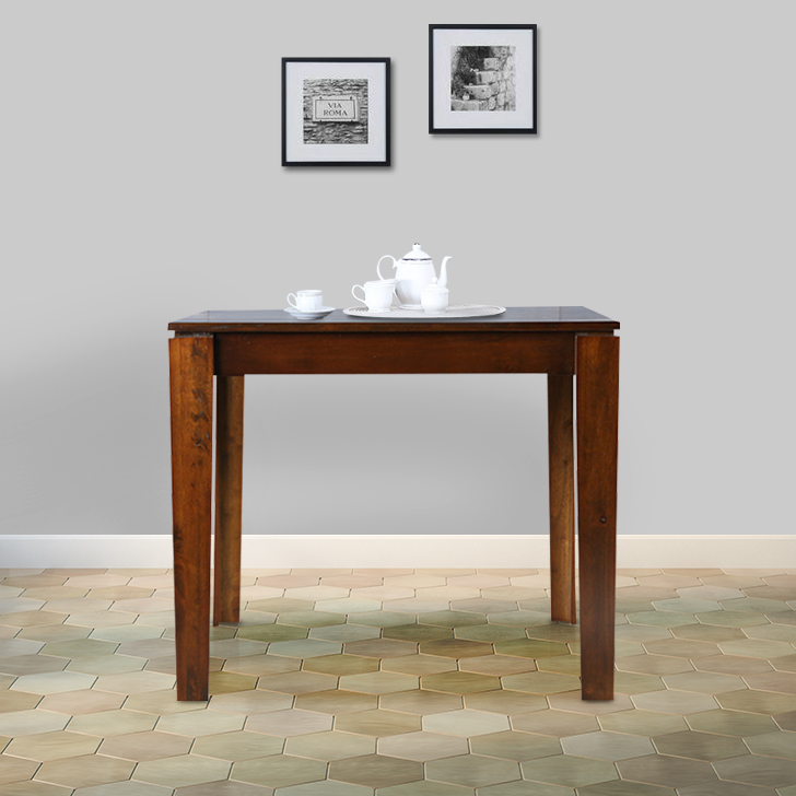 Metro Solid Wood Four Seater Dining Table in Esspresso Colour by HomeTown