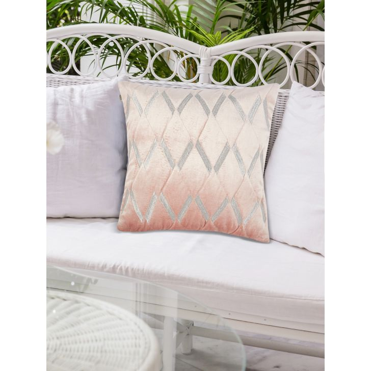 Chic Affair Blush Polyester Cushion Covers in Blush Colour by Living Essence
