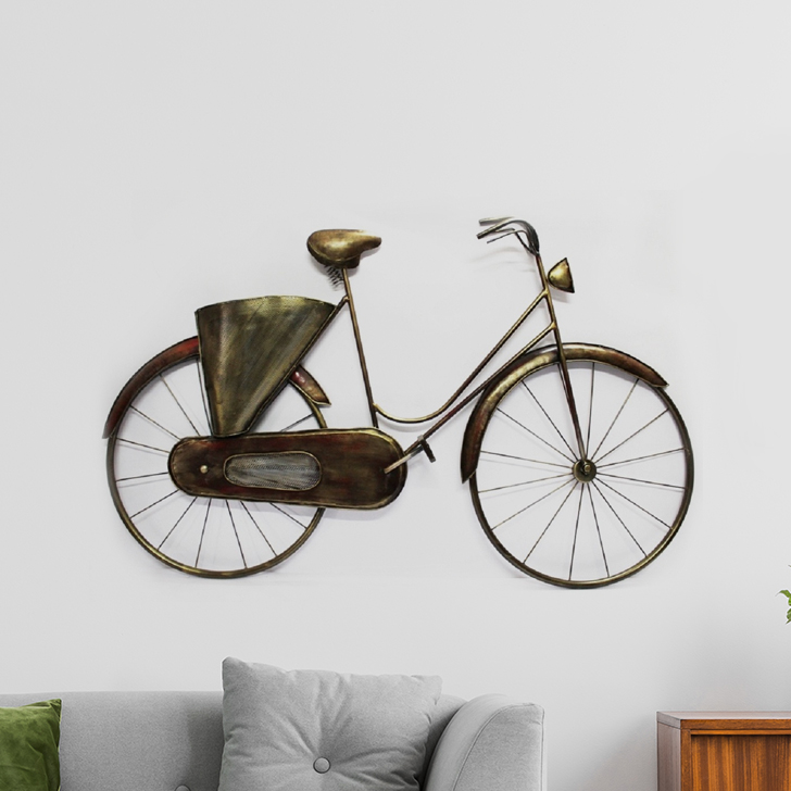 Vintage Cycle Wall D Iron Wall Accents in Multi Colour by Royce