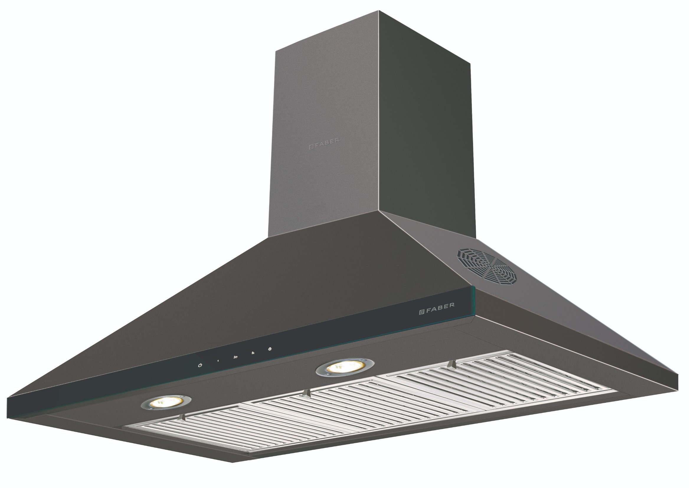 Faber Stainless steel Chimney Hood Topaz Smart 3D T2S2 BK TC LTW 90 by HomeTown