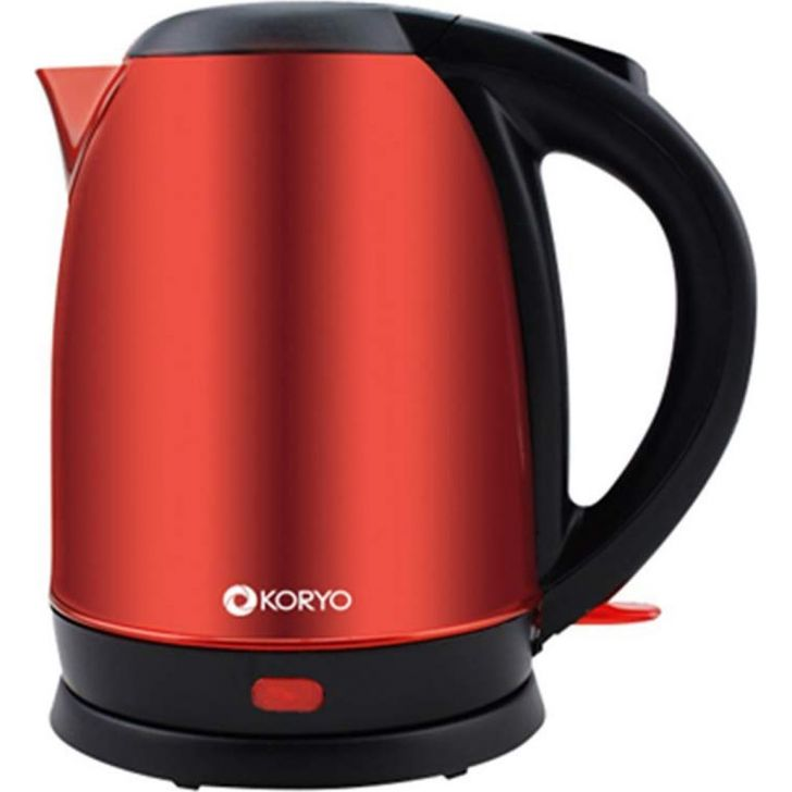 Electric Kettle (1500W) - 1.8 Litres - Red by Koryo