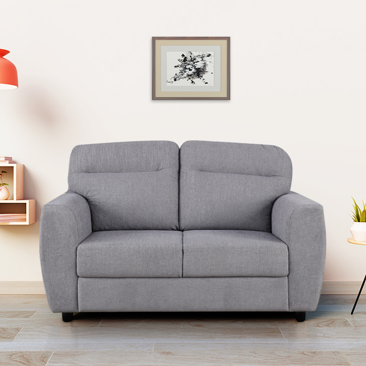 Chelsea Fabric Two Seater Sofa in Grey Colour by HomeTown