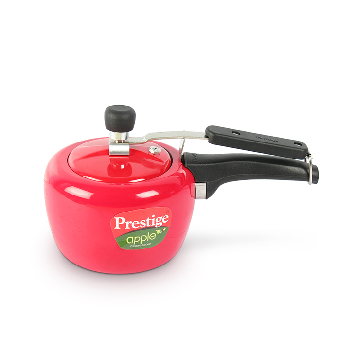 Prestige Apple Plus Red Pressure Cooker 3 Ltr Aluminium Cookers in Red Colour by Prestige