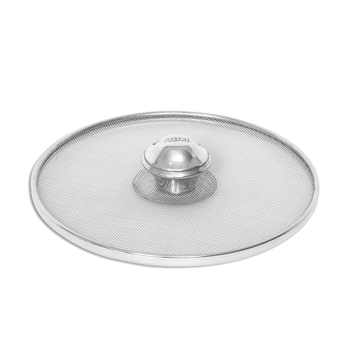 Colander Silver Stainless steel Cooking Essential in Silver Colour by Living Essence