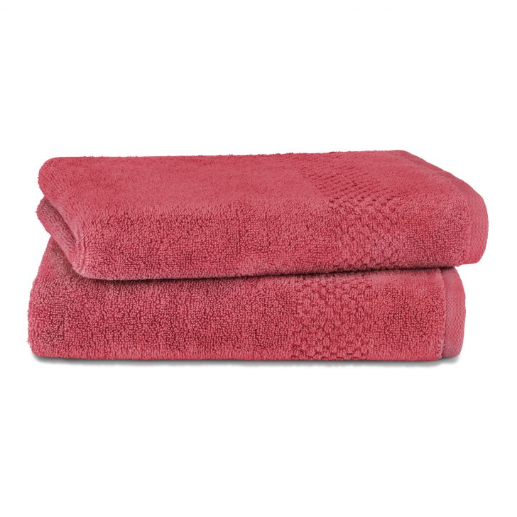Spaces Essentials 100% Cotton 450 Gsm Red 1 Hand Towel