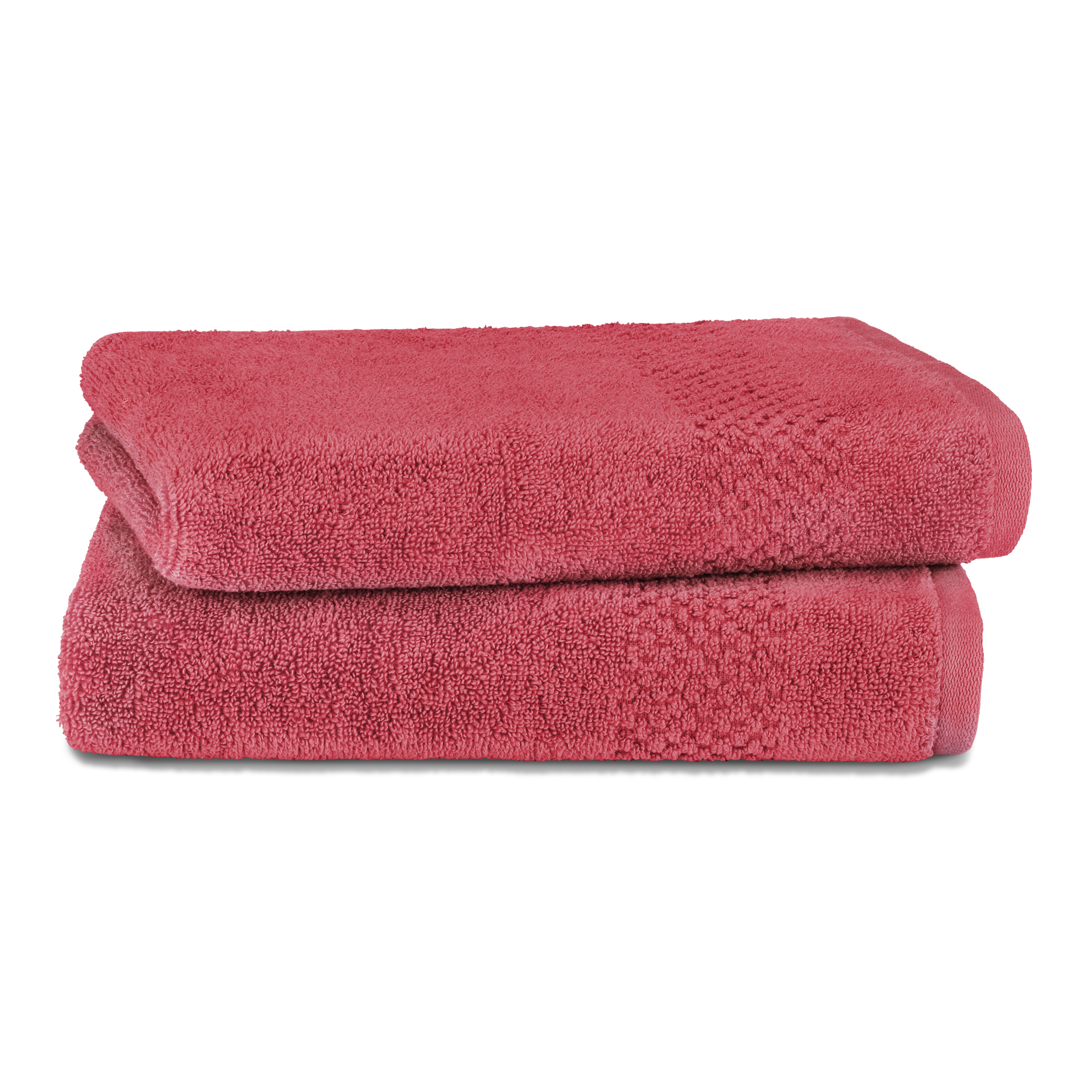 Spaces Atrium Cotton Double Bed Sheets in Red Colour by Spaces