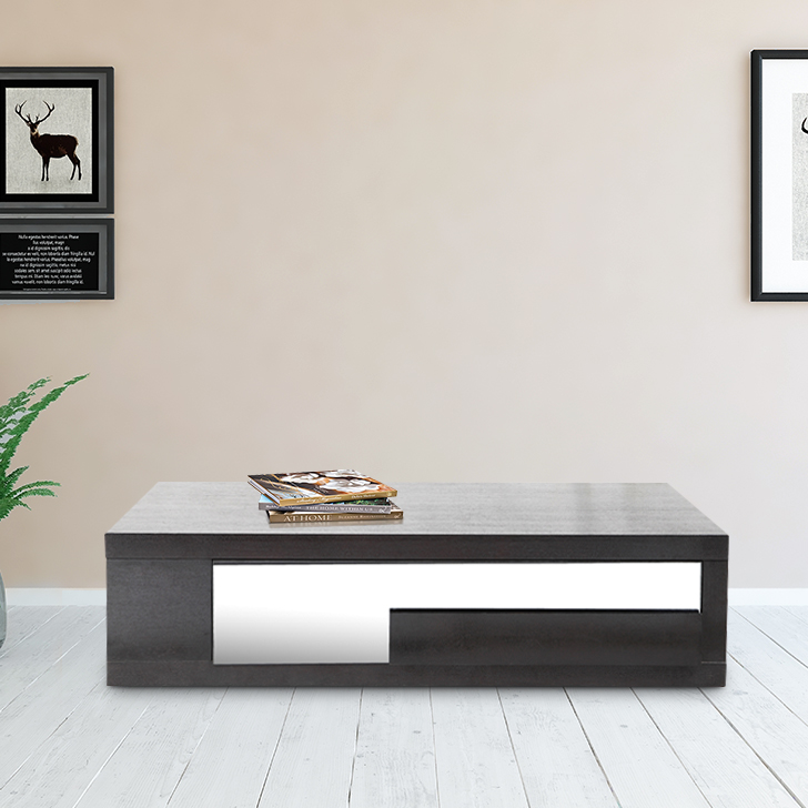 Alfe Engineered Wood Center Table in Wenge Colour by HomeTown