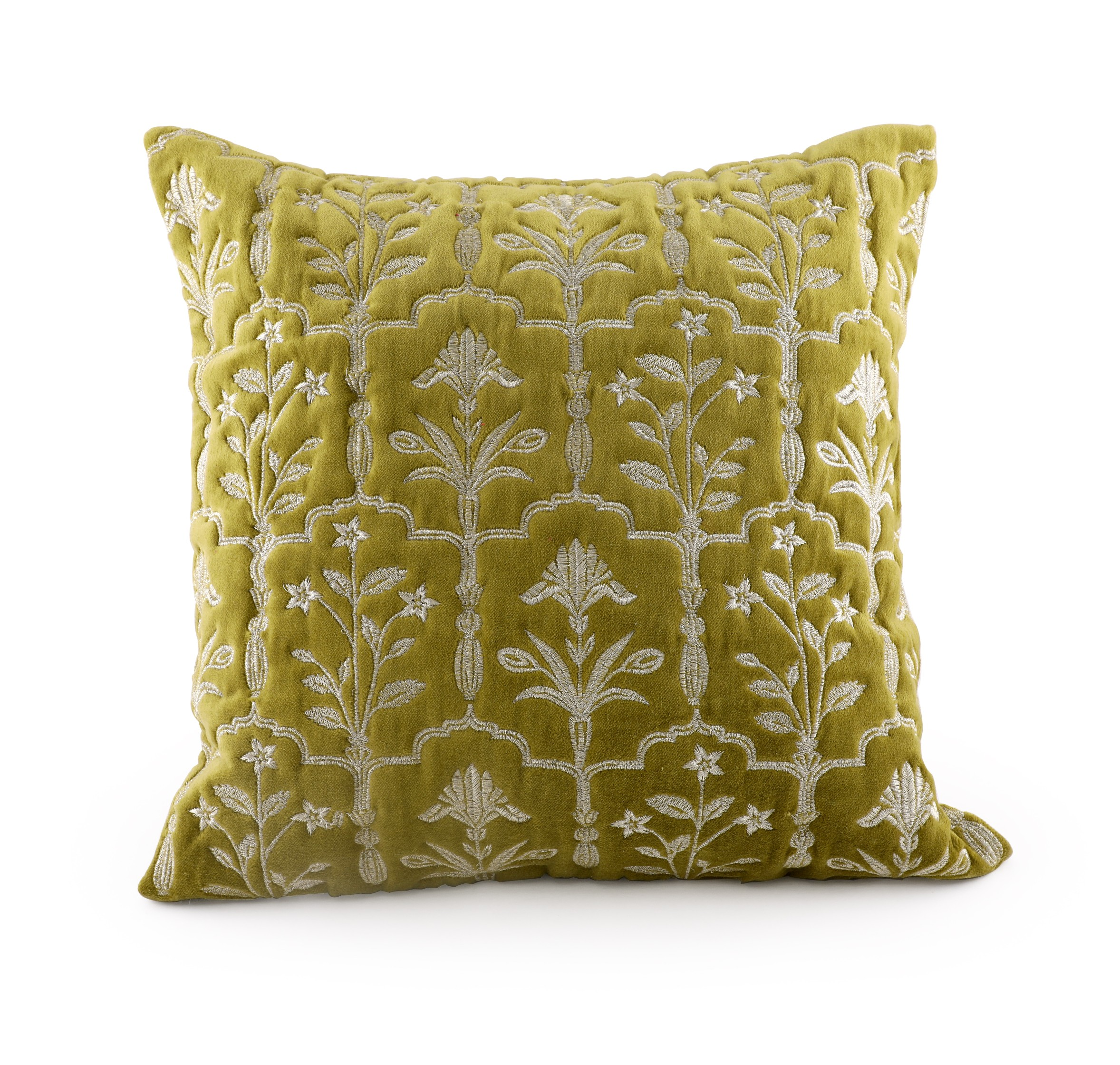 Chianti Citron Cushion Cover Cushion Covers in Blue Colour by Living Essence