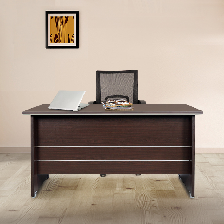 Nova Engineered Wood Office Table in Vermont Colour by HomeTown