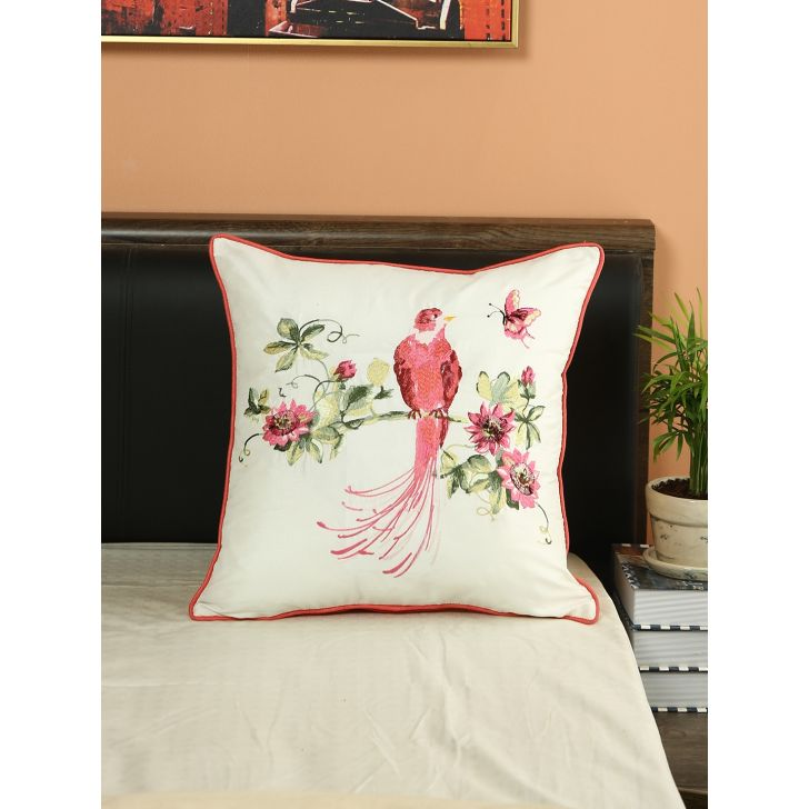 Laura Ashley Harewood Pink Cotton Coushion Cover 40 x 60 Cm in Multi Colour