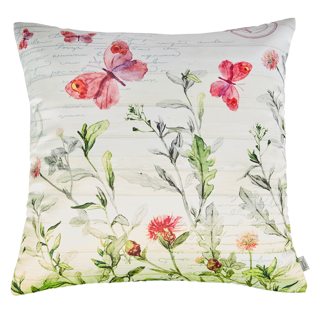Digital Cushion Cover Butterfly Cushion Covers in Poly Satin Colour by Living Essence