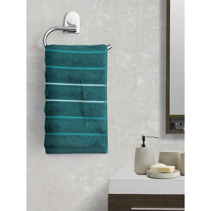Portico New York Myra Multistripe Hand Towel 60 cms x 40 cms in Earth Color by Portico