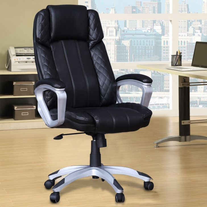 Ventura Leatherette High Back Office Chair in Black Colour by HomeTown