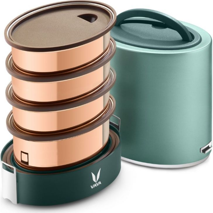 Vaya Tyffyn 1300 Ml - 4 Copper Containers, Green