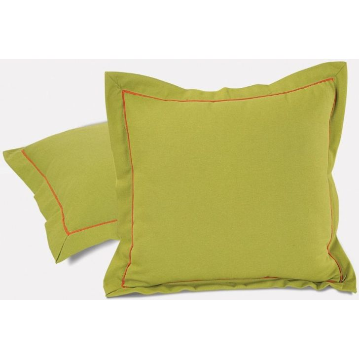 Solid Cushion Cover 16 In Green Color By Swayam