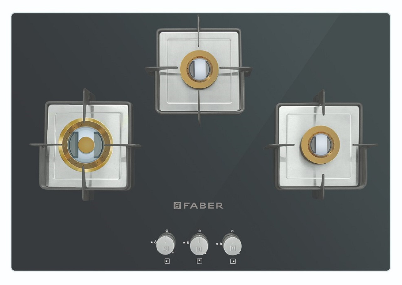 Faber Stainless steel Built- In-Hob HTG 753 CRS BR CI by HomeTown