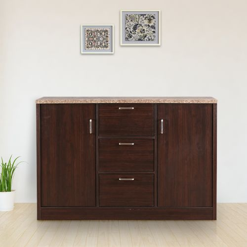 Buy Murano Engineered Wood Storage Cabinet In Wenge Colour By