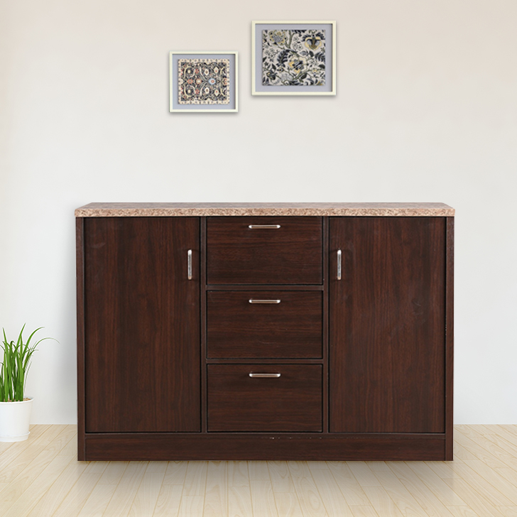 Murano Engineered Wood Storage Cabinet in Wenge Colour by HomeTown