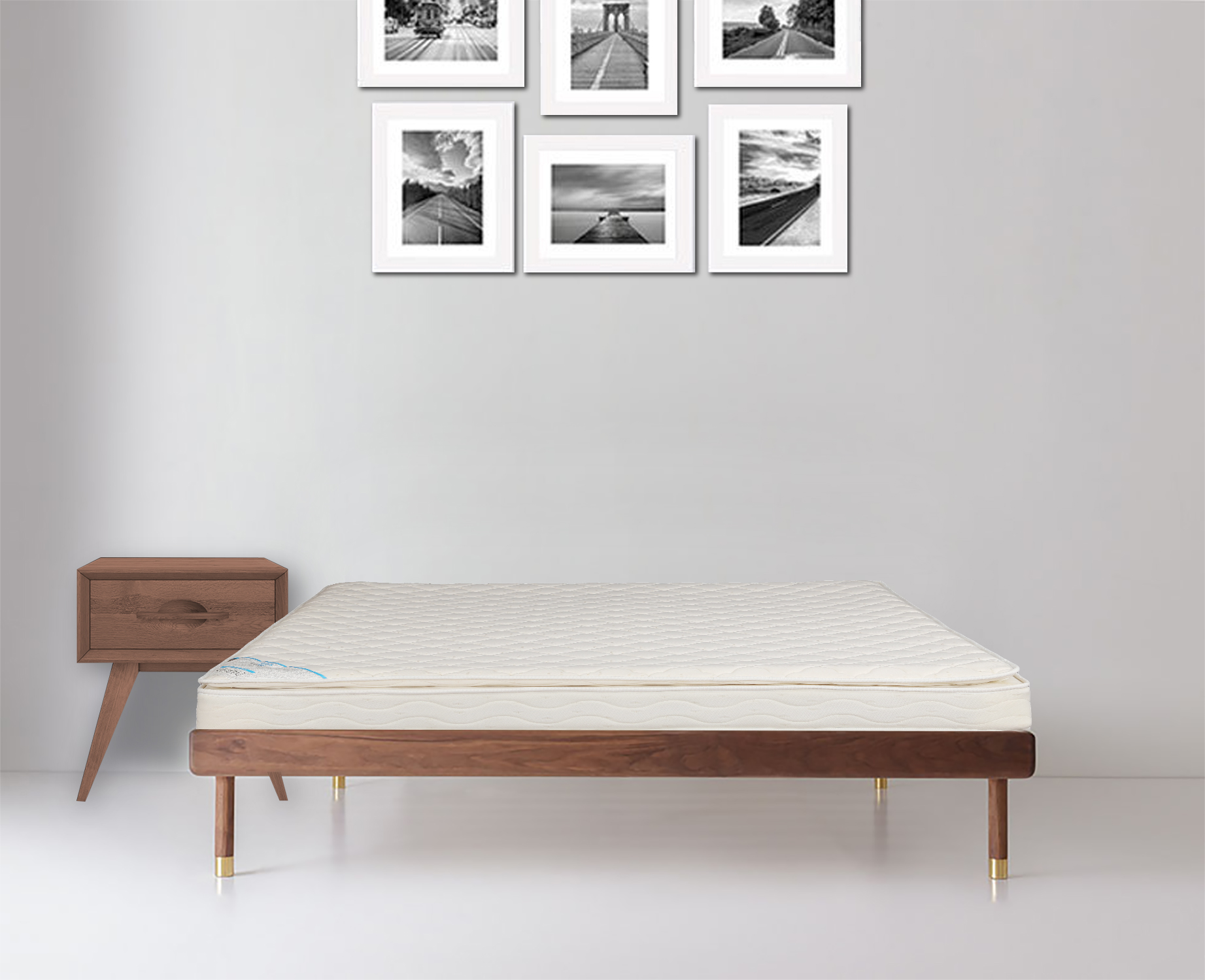 Daphne Bonnell Pillow Top King Bed Mattress (78*72*6) in Off White Colour by HomeTown