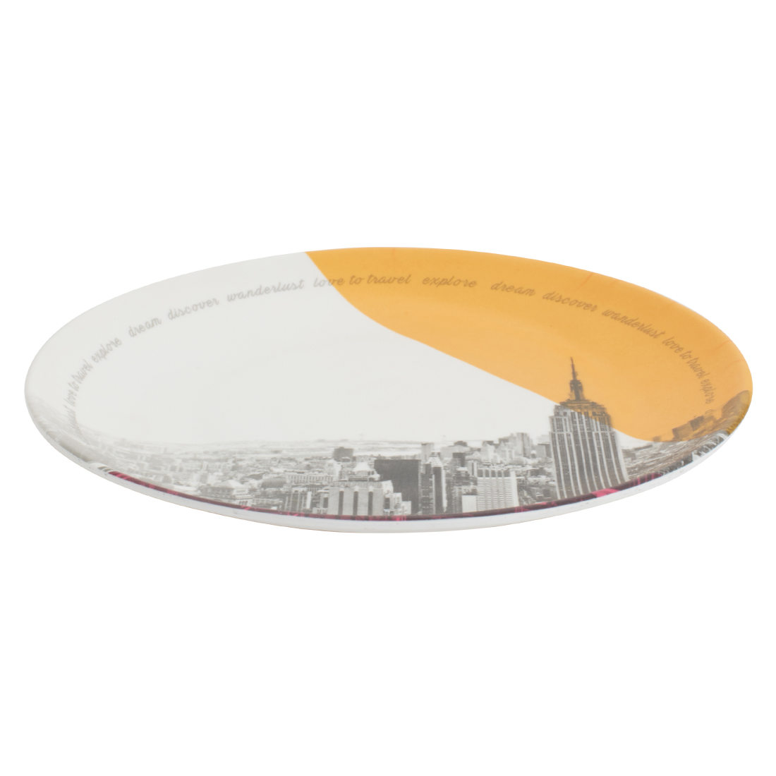 Persian 5Th Avenue Round Small Plate Food Grade Melamine Plates in Multi Color Colour by Living Essence