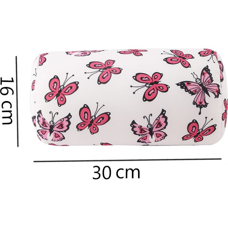 Dreamline Tube Polyester Pillow in White & Red Colour by HomeTown