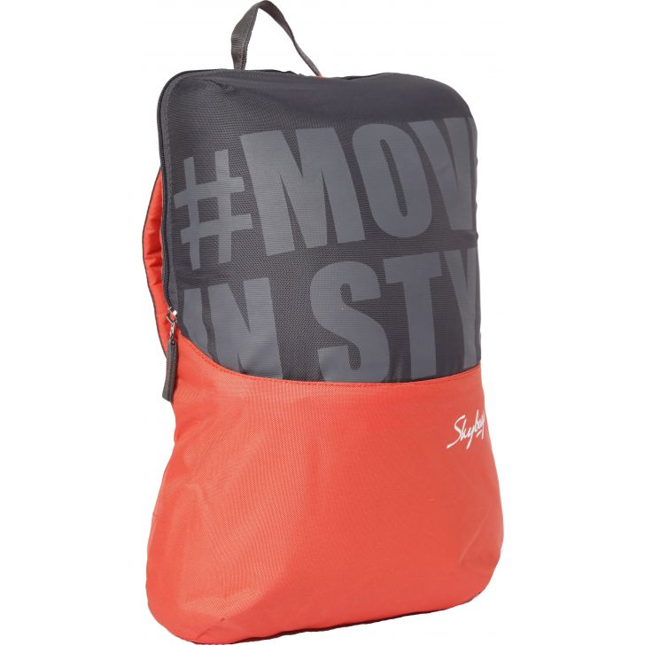 Casual Backpack Polyester Backpack in Orange Colour by SKYBAGS