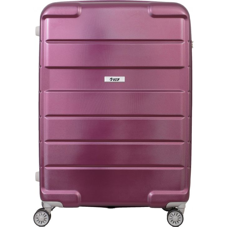 Hummer 79 cm Polycarbonate Hard Trolley Promo in Purple Colour by VIP