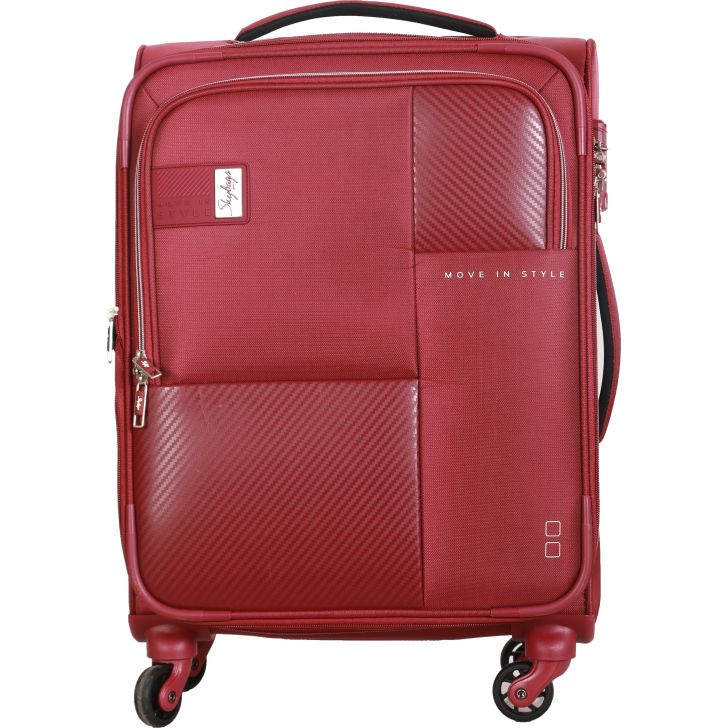 Skybags Cardinal 4W Expandable 58 cm Soft Trolley (Burgundy)
