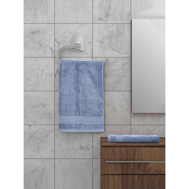 Spaces Cotton Hand Towel in Petrol Colour by Spaces