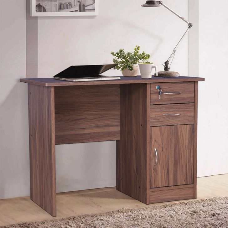 Simply Engineered Wood Study Table in Columbia Walnut Colour by HomeTown