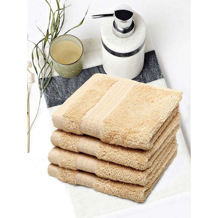 Spaces Cotton Face Towel in Honey Colour by Spaces