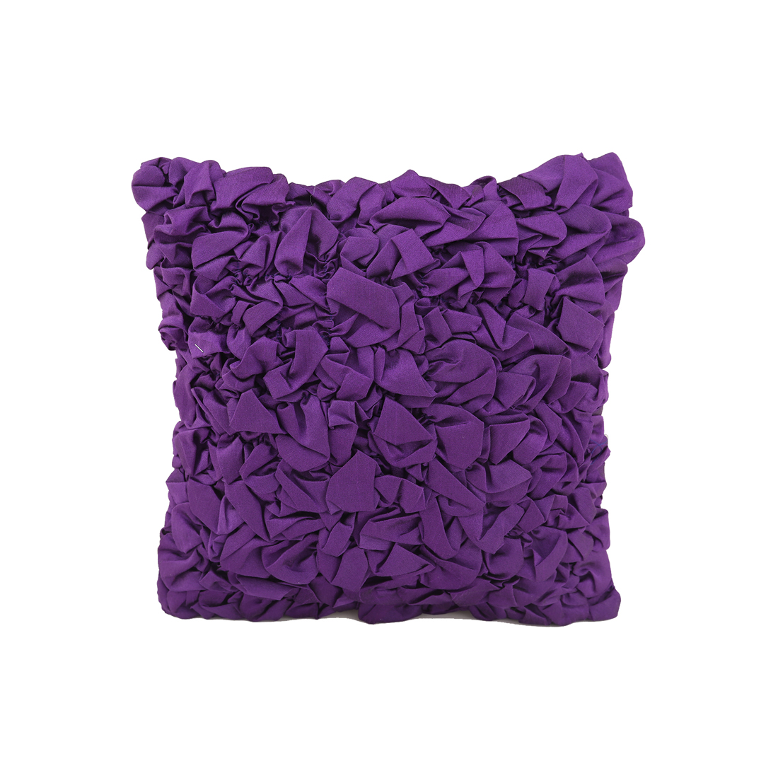 Capri Polyester Cushion Covers in Purple Colour by Living Essence