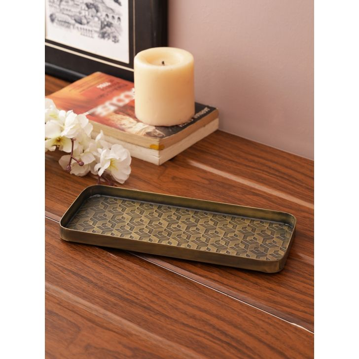 Nivaan Decorative Tray Metal Table D