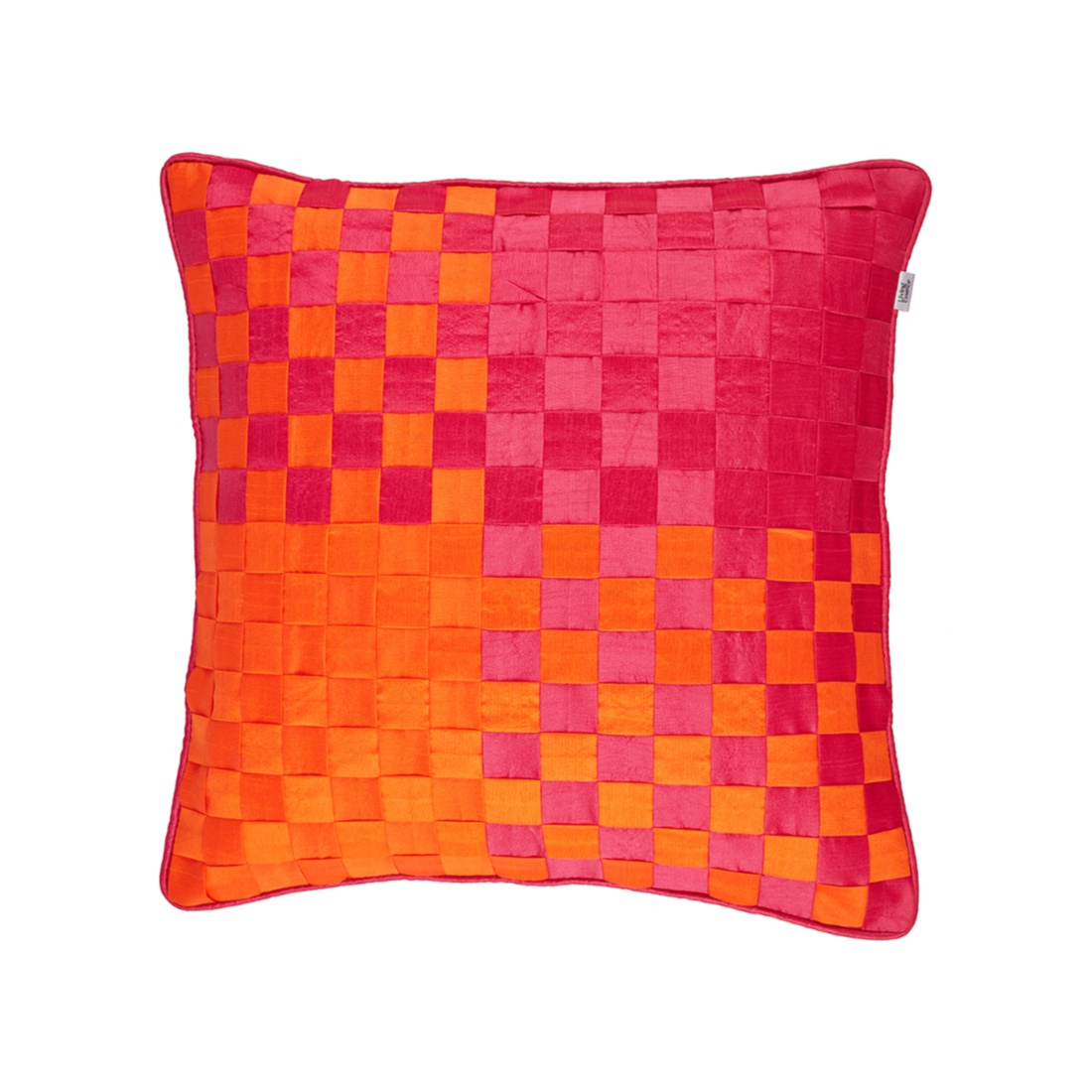 Basket Cushion Cover Fuchsia Polyester Cushion Covers in Fuchsia Colour by Living Essence