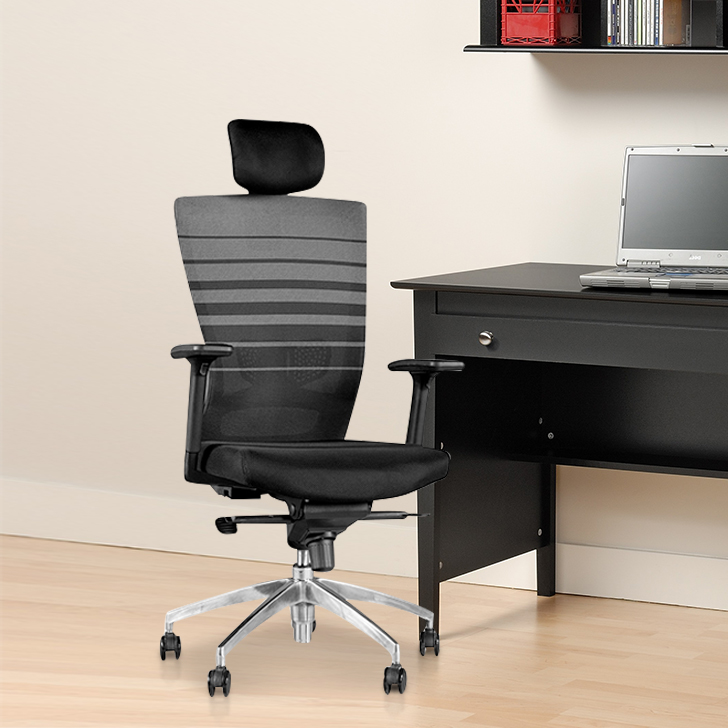 Ergo Glass Office Chair in Black Colour by HomeTown