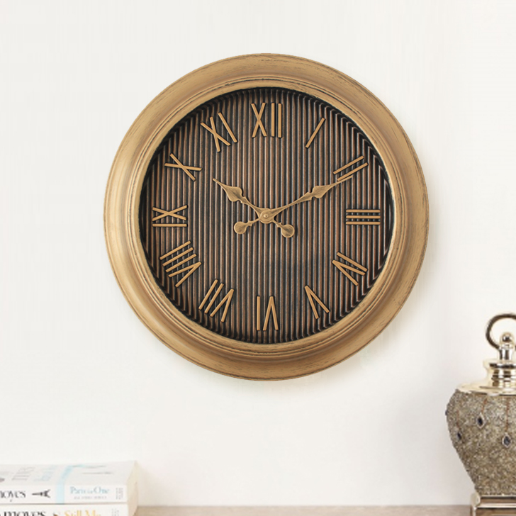 Aristo Strip Face Roman Classic Clocks in Brown, Neutrals Colour by Living Essence