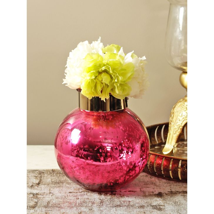 Marvela Glass Candle Holder in Pink Colour by HomeTown
