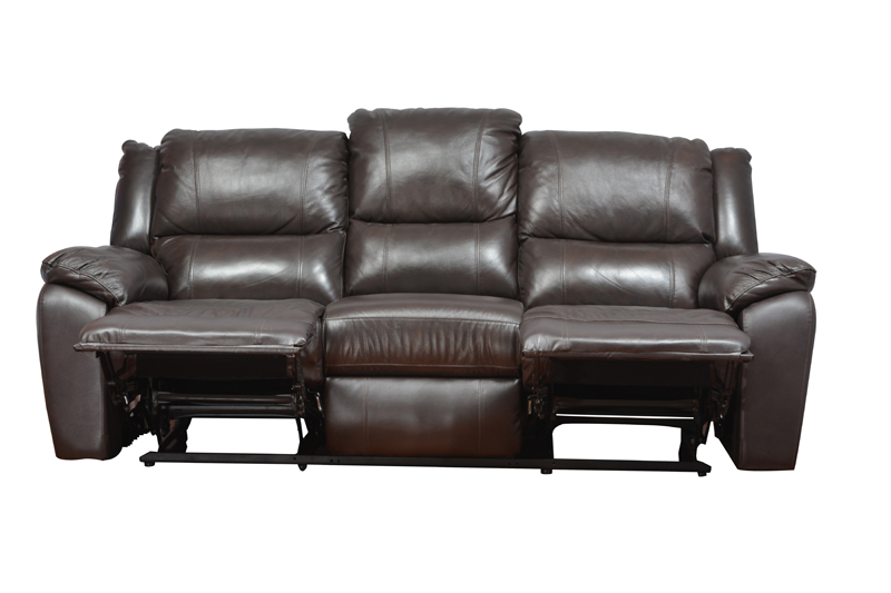 Alexander Three Seater Recliner in Dark Brown Colour by HomeTown