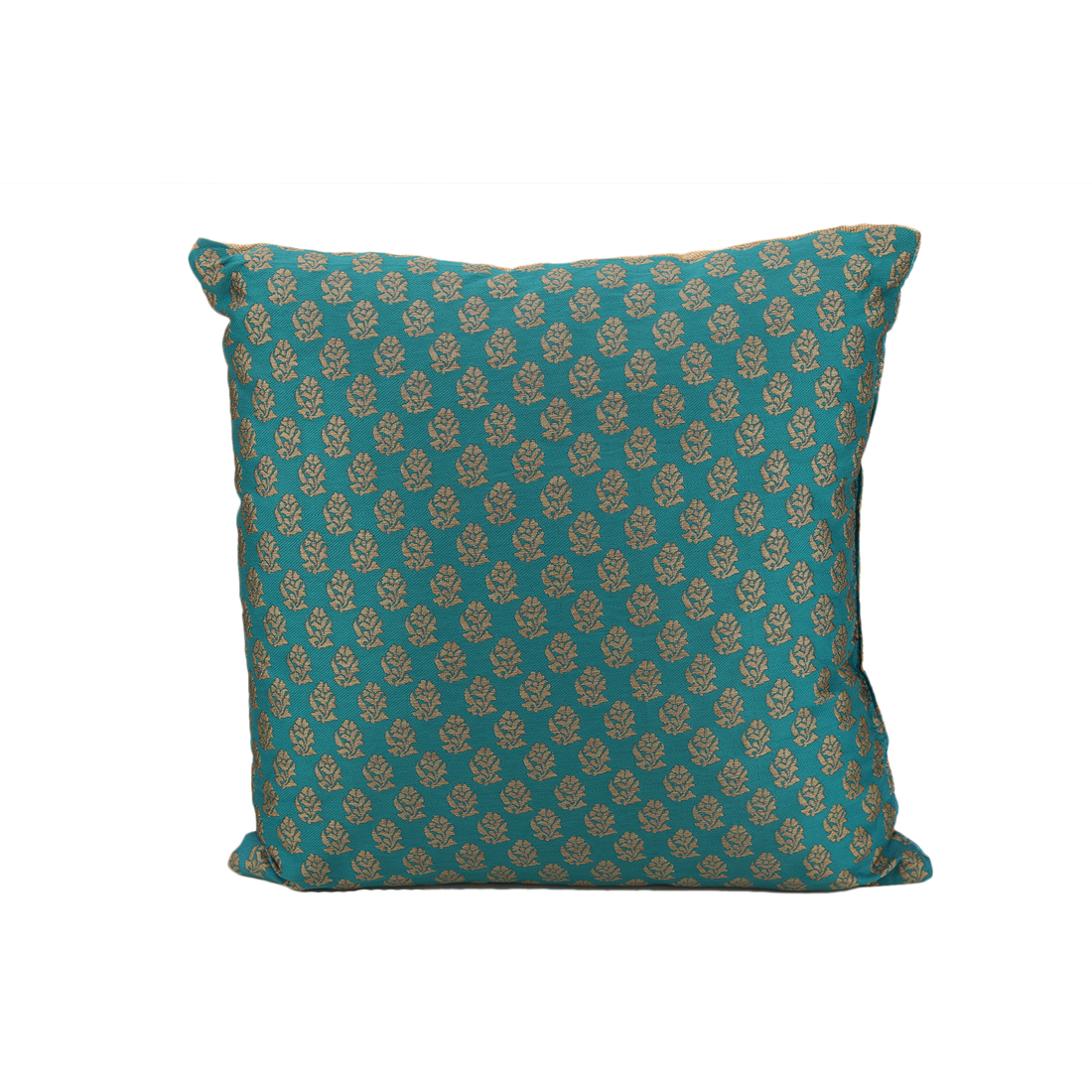 Miraya Polyester Filled Cushions in Teal Gold Colour by Living Essence