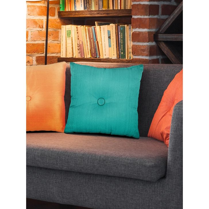 Fiesta Polyester Filled Cushions in Teal Colour by Living Essence
