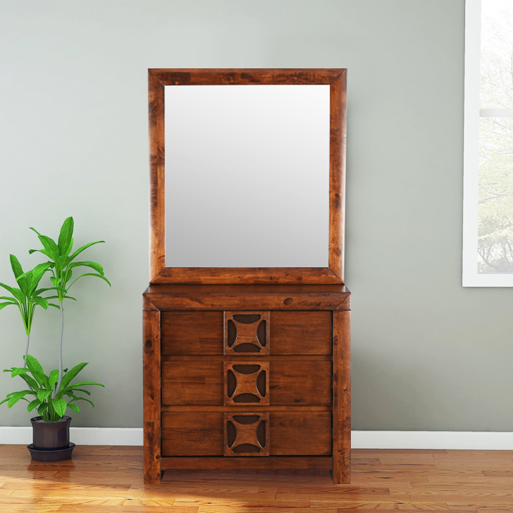 Casablanca Solid Wood Dressing Table in Walnut Colour by HomeTown