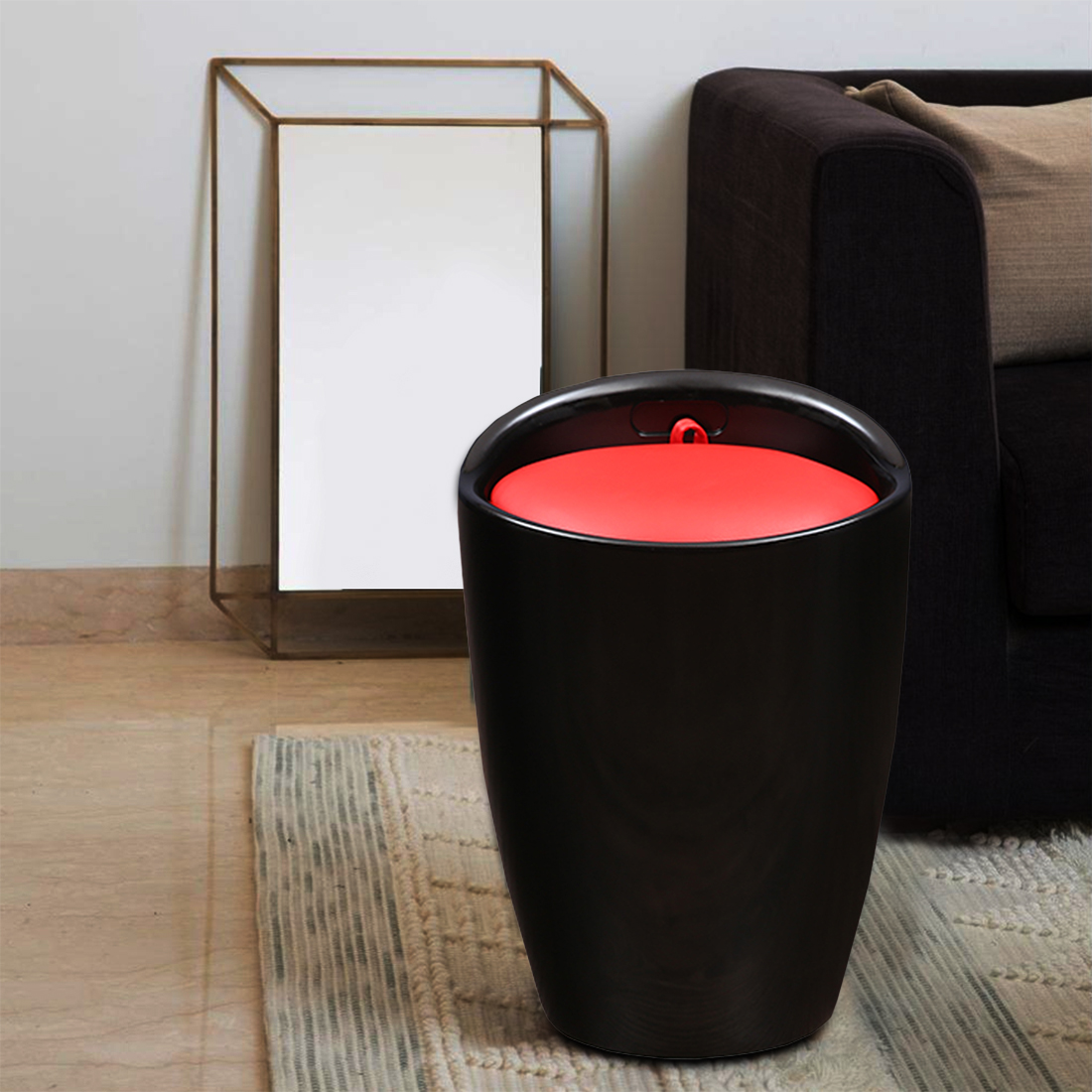 Luna Stool in Black Colour by HomeTown