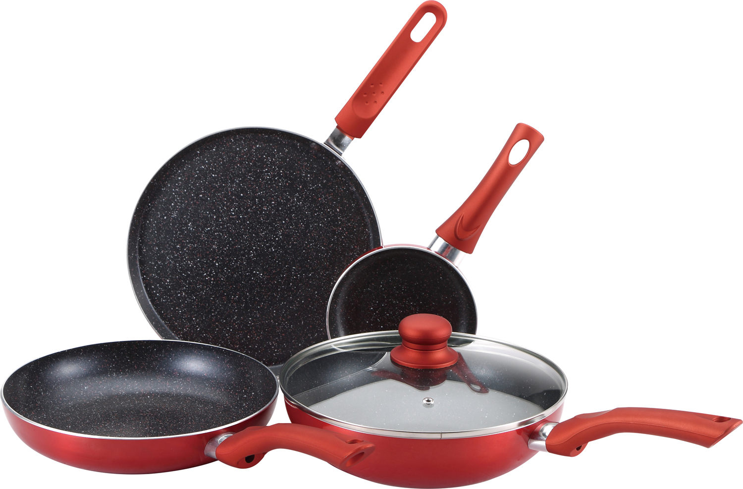 Esprit - 5 Piece Cookware Set Aluminium Cookware in Red Colour by Bergner
