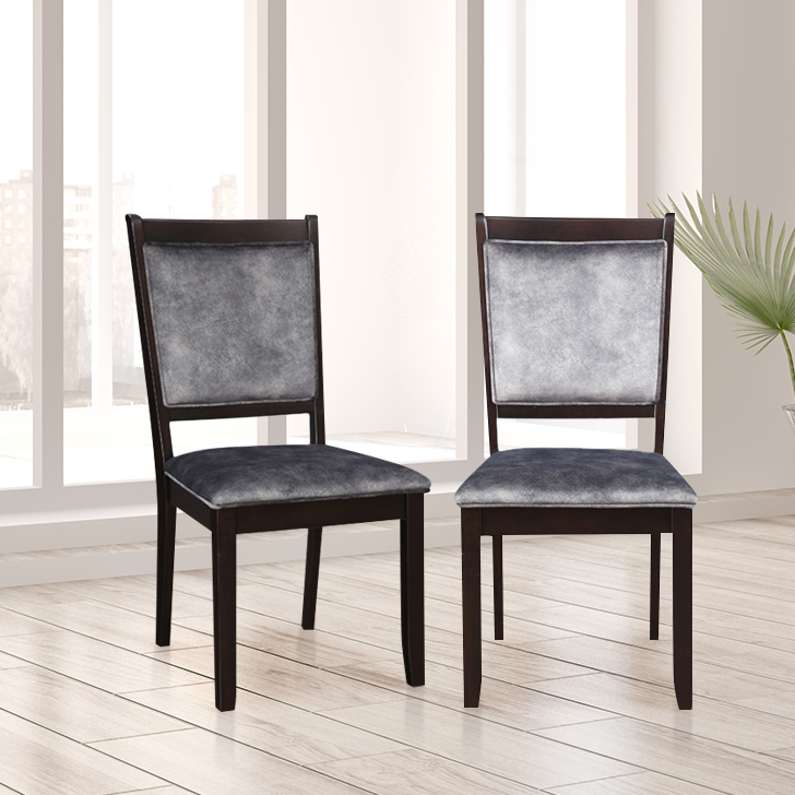 Madrid Solid Wood Dining Chair Set of Two in Cappucino Colour by HomeTown