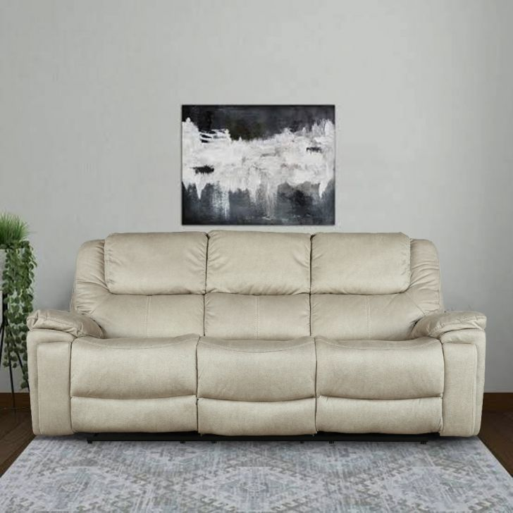 Argos Fabric Three Seater Electric Recliner With Triple Motion in Camel Colour by HomeTown